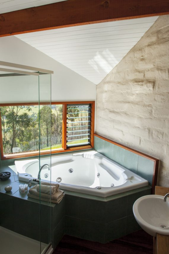 Each cabin has its own couples spa