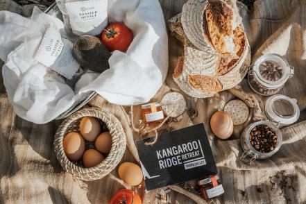 Provided for all stays a locally sourced, seasonal breakfast hamper