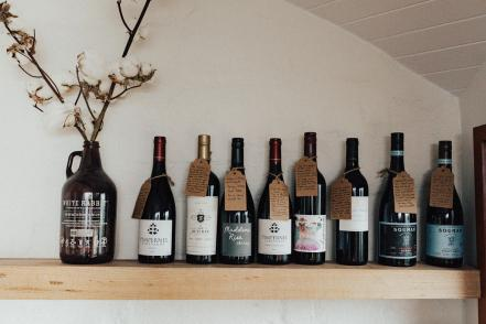 A selection of local wines available from the larder