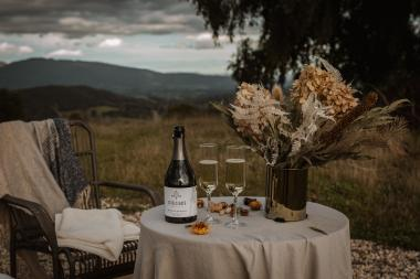 Sparkling wine and romantic views