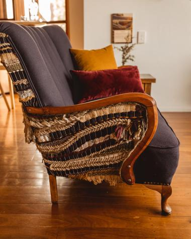 woven upholstered chair